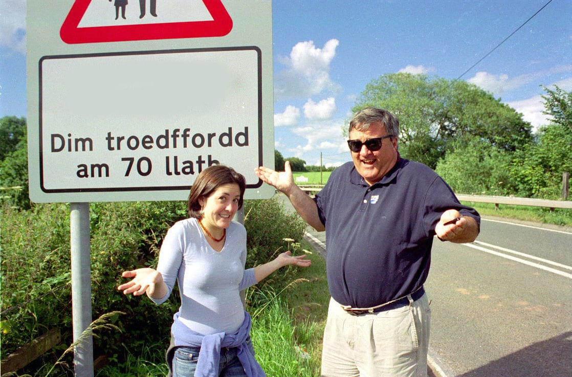 Chris and Grace in Wales