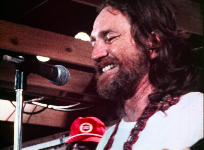 Willie Smiling On Stage