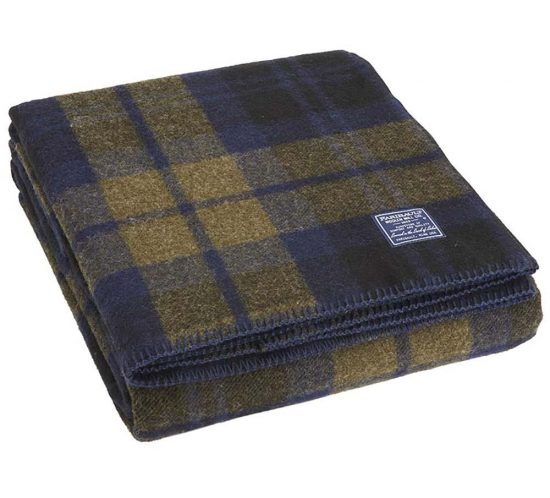 Faribault Foot Solider Miltary Shadow Plaid Wool Blanket on All Plaidout