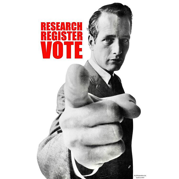 Paul Newman Research Register Vote